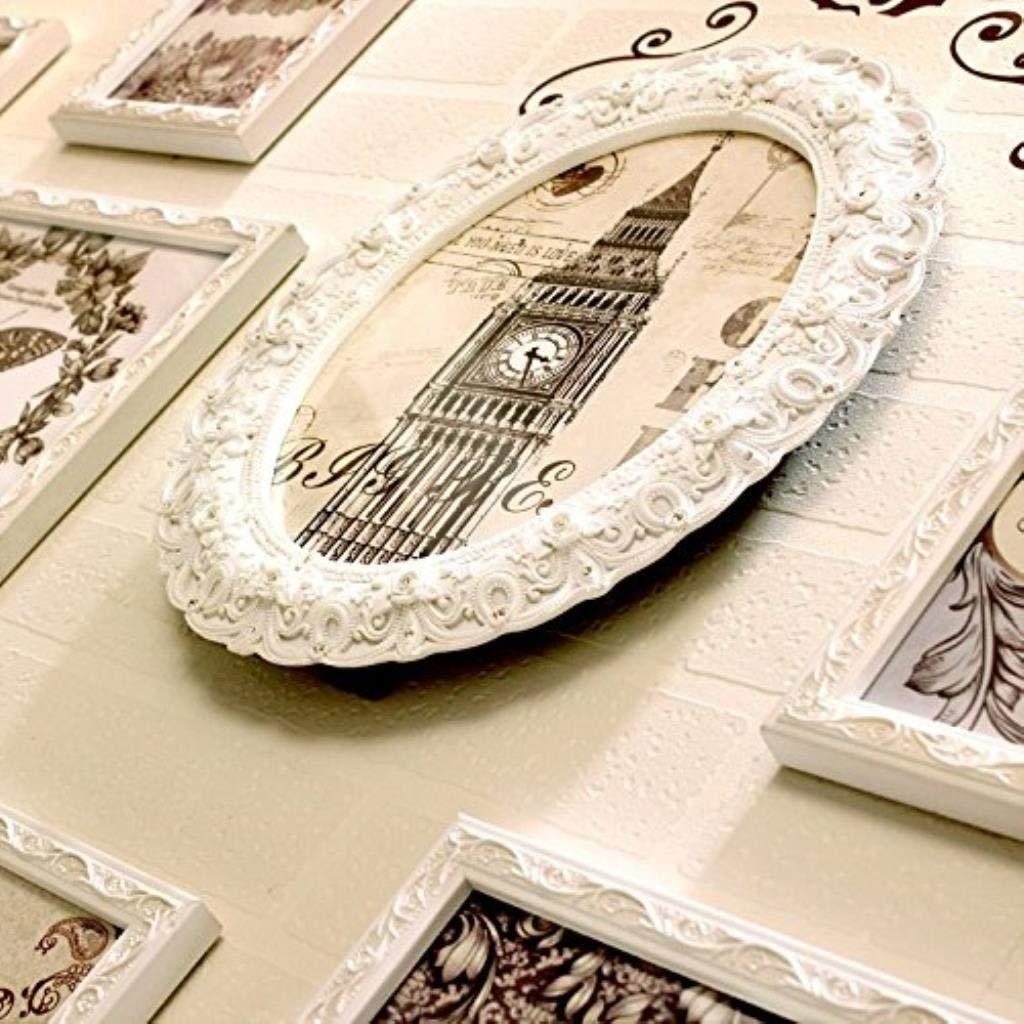 g/ótico Tallado Madera Maciza Marco de Fotos de Madera Dormitorio Sala de Estar Jjek Foto de la Pared Moderna combinaci/ón de Marco de Foto Creativa Fondo del Pasillo Color : 13 Frame