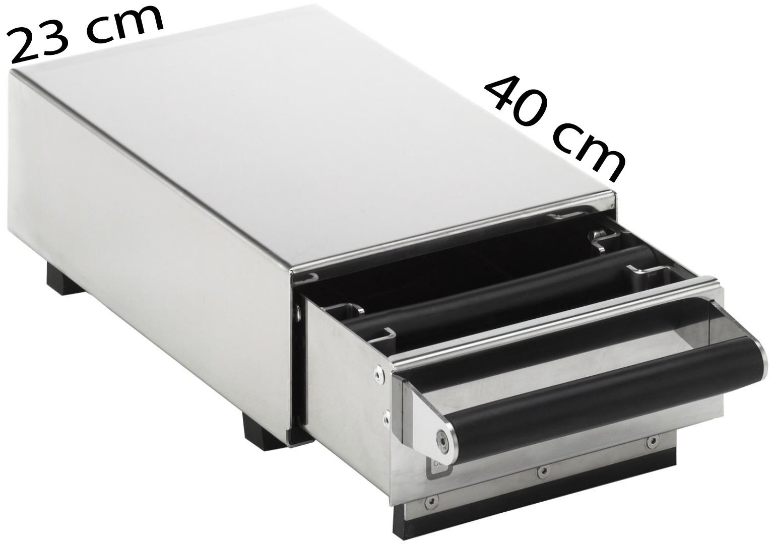 Knock Box Drawer Exclusive ST, Stainless Steel Knock Out Drawer Stand Alone under the Espresso Grinder