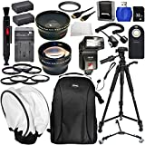 Everything You Need Package Accessory Kit for Canon EOS 5Ds, 5DsR, 5Ds R, 6D, 60D, 60DA, 70D, 7D Mark II Digital SLR Camera (Which has 58mm & 52mm Lens) Includes: 0.43X Wide Angle & 2.2X Telephoto Lens + 7 Pc. Filter Kit + 32GB Memory Card + 72 Tripod + T