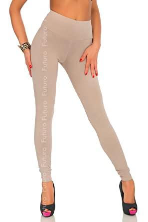 FUTURO FASHION - Legging - Femme Beige beige  Amazon.fr  Vêtements ... b95493c4f3e1