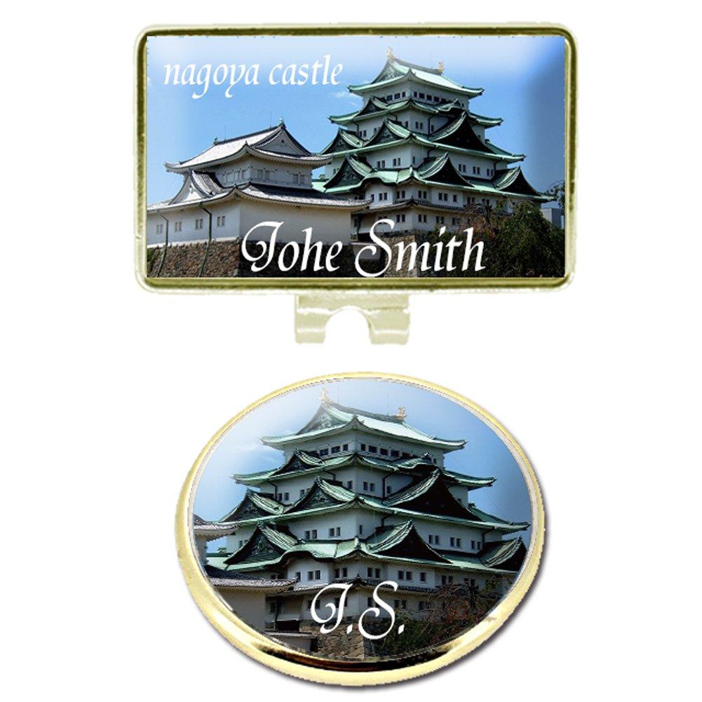 Umayasu Personalized Color Japanese Castle Golf Marker with Hat Clip Nagoya Castle