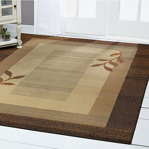 Home Dynamix  Royalty Clover Contemporary Modern Area Rug, Geometric Brown/Blue 7'8