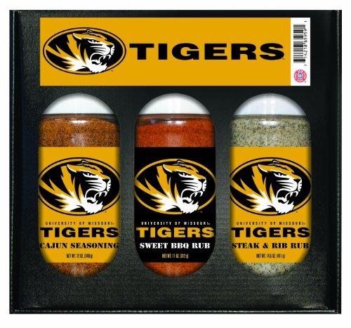 Missouri Tigers NCAA Boxed Set of 3 (Cajun Seas,Stk/Rib Rub, BBQ Rub) ()