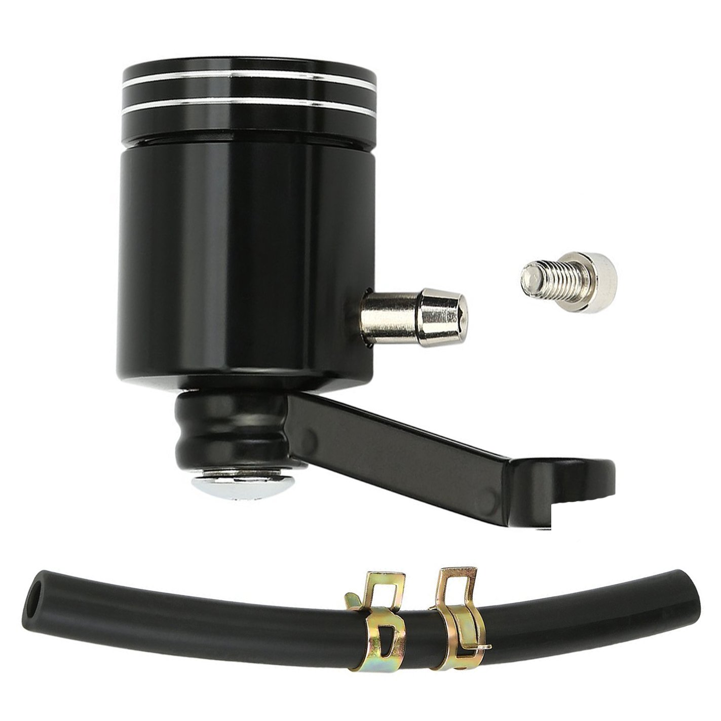 SclMotor Black Front Brake Fluid Reservoirs Master Cylinder Fluid Reservoirs Fluid Bottle Oil Cup Made by Aluminum Universal Fit Most of Motorcycle Sport Street Scooter Dirt Bike