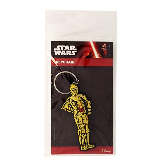 Amazon.com: Star Wars C3PO Llavero de goma: Clothing