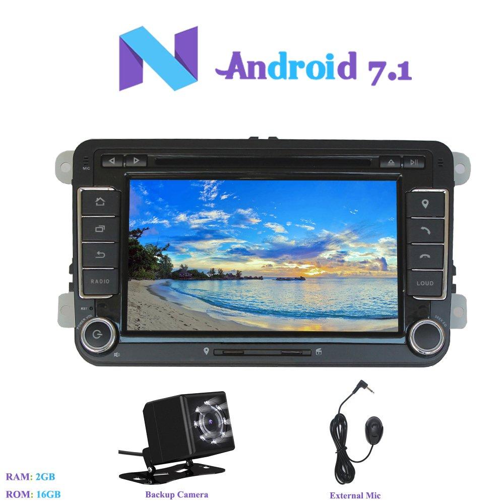 Android 7.1 Autoradio, Hi-azul 2 DIN Radio de Coche 7 ...