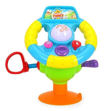 Amazon.com: Electric Driving Steering Wheel Kids Car Seat Toys W ...