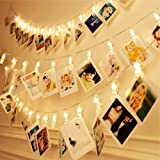 Dopheuor Photo Clip String Lights LED Fairy Clip String Lights Hanging Photo Pictures Battery Operated for Gifts Patio…