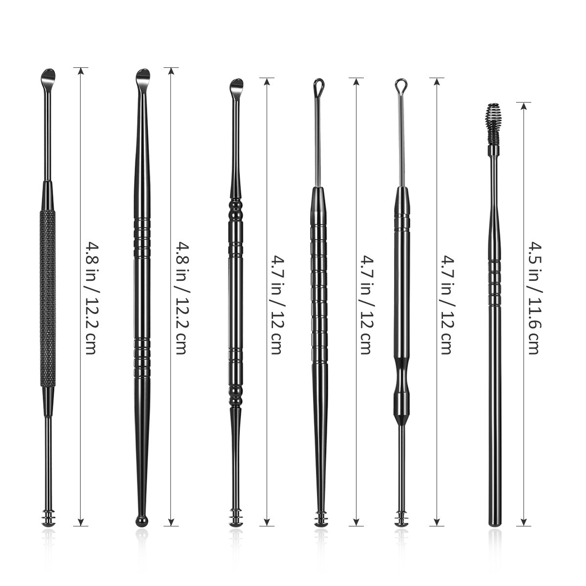 6PCS Stainless Steel Ear Wax Removal Curette Cleaner Health Ear Care