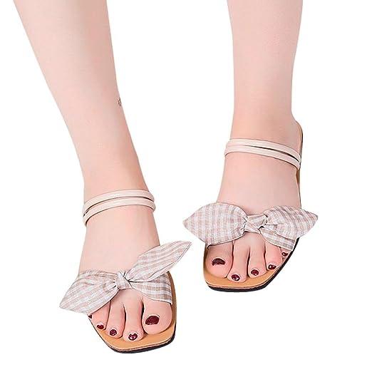 5f286941189a7 Amazon.com: Hunzed Women Sandals, Fashion { Lattices Shoes } { Bow ...