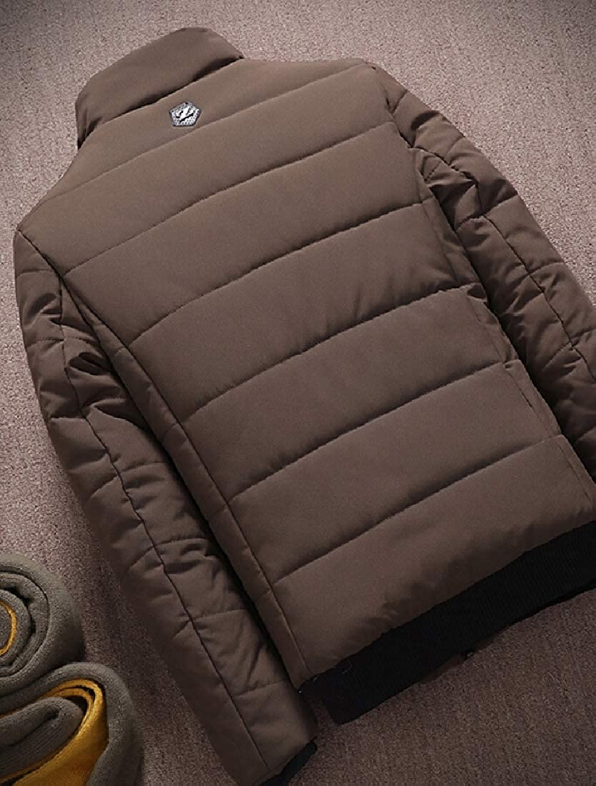 WSPLYSPJY Men Ultralight Packable Stand Collar Down Jacket Outwear Puffer Down Coat