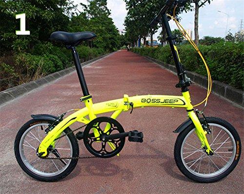16インチ 折りたたみ自転車 折畳自転車 おりたたみ自転車 MTB おりたたみ自転車W345 B00QA159SG イエロー イエロー