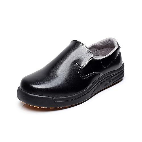 code promo cdda2 80c0a Levoberg Chaussure de Cuisine Protection d'eau et d'huile Chaussure de  Travail Antidérapant Chaussure de Sécurité pour Homme Femme
