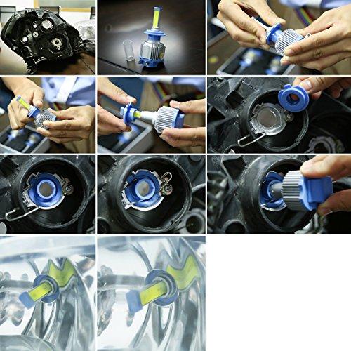 GreenClick 2*H7 BRIGELUX (Puri) LED phares Voiture Ampoules,Etanche IP65, 50W 7200LM ,Car Healight LED Véhicule Blanc Pur 6500K Tout-en-un kit de conversion. (H7) cheap