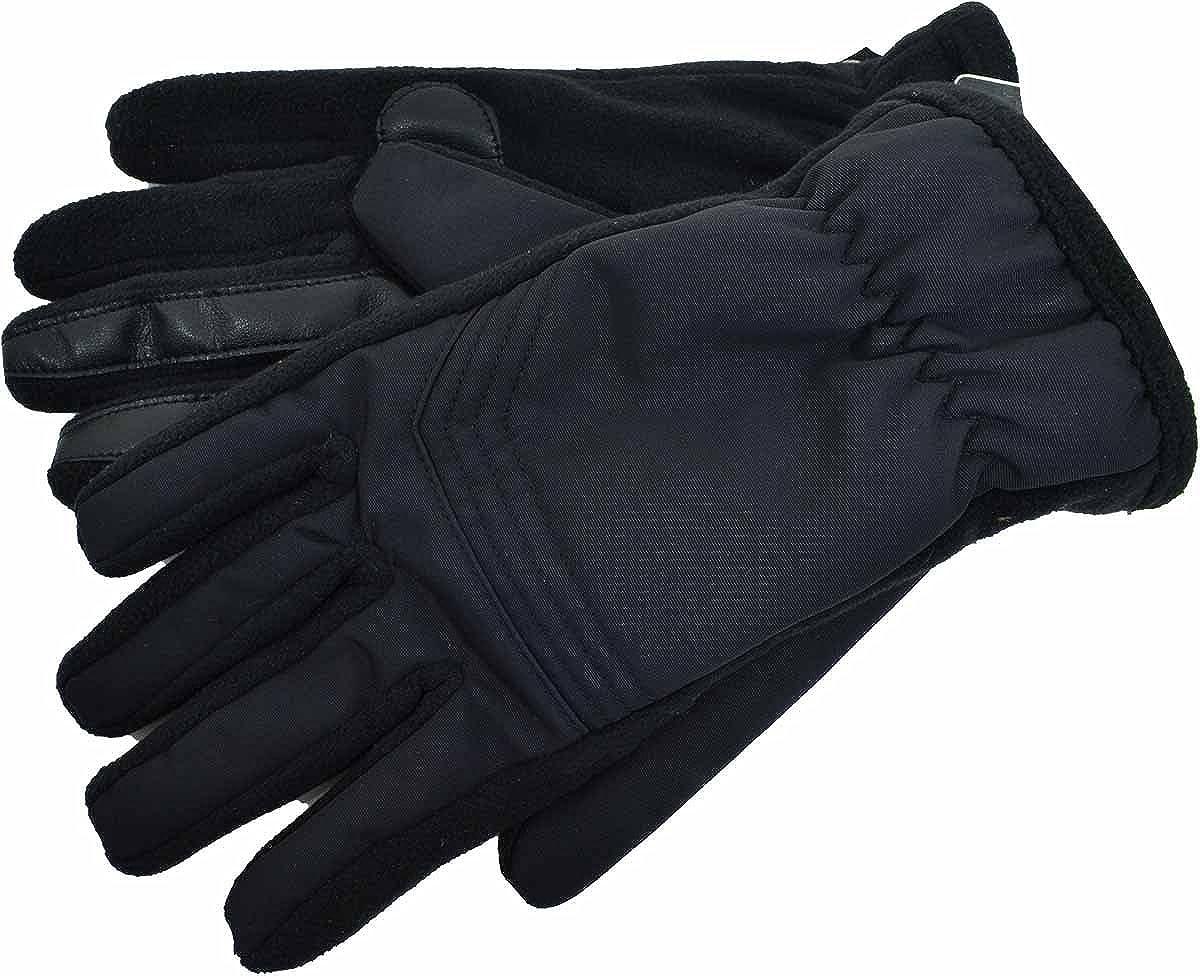 Isotoner Mens Smartouch Touchscreen Black Gloves Med
