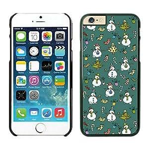 Iphone 6 cases,Carton Christmas snowman Iphone 6 (4.7)case Black Cover