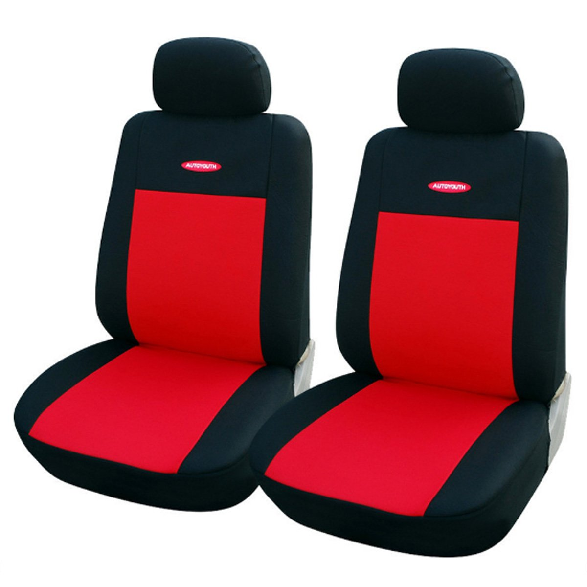 Red Car Seat Covers Universal Fit Polyester 3MM Composite Sponge Car Styling Lada Car Covers Seat Cover Accessories