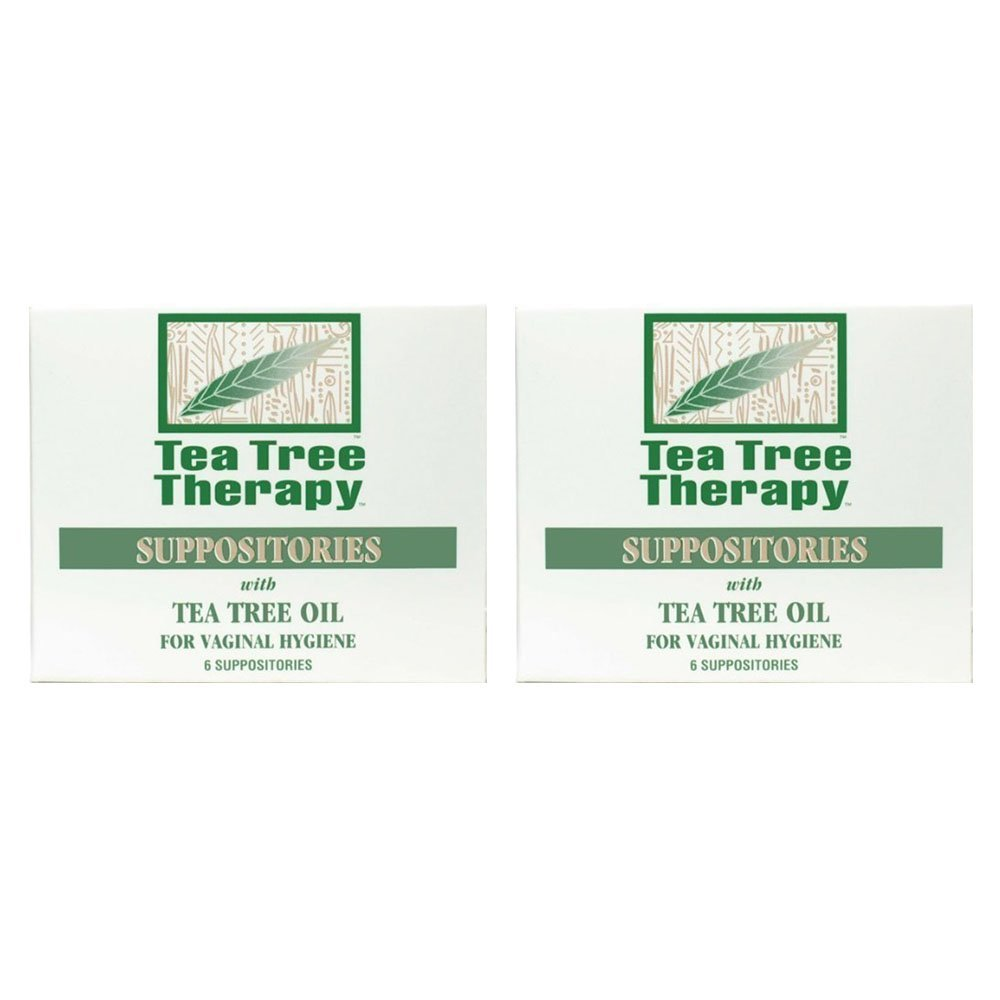 Tea Tree Therapy Vaginal Suppositories with Oil (2-Pack of 6) by Tea Tree Therapy
