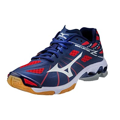 Mizuno Wave Lightning Z Women's Volleyball Shoes - Navy & Red (Women's ...