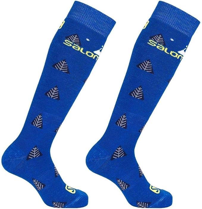 Rasp//White UK 9.5-12 Brand New Salomon SPK Junior 2 Pack Ski Socks 2.5-4