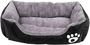 Homes for Pets Dogs Cats Beds, for Pets Up to 6/28 lbs, Black, M