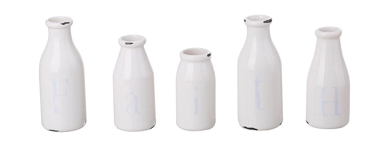 Transpac Set of Five Faith Vases 5 Piece
