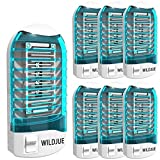 WILDJUE [6-Pack] Bug Zapper Electronic Insect Killer Mosquito Killer Lamp,Eliminates Most Flying Pests! Night Lamp - (Blue)