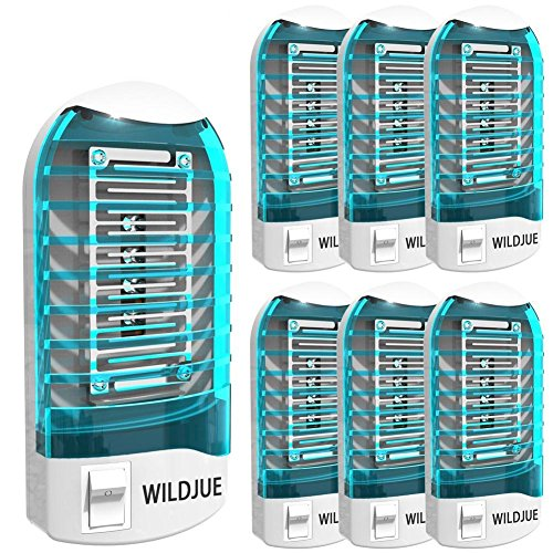 WILDJUE [6-Pack] Bug Zapper Electronic Insect Killer Mosquito Killer Lamp,Eliminates Most Flying Pests! Night Lamp - (Blue) by WILDJUE