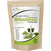 Organic Wheatgrass Powder (200 grams) | MySuperFoods | Certified Organic | Source of Vitamin E, Calcium, Iron, Zinc, Fibre | Powerful Antioxidant | Highest Grade Powder Available