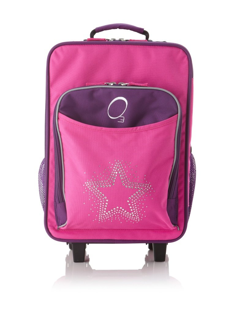Kids Travel Suitcase, Rolling Luggage Piece, Light and Easy to Pull
