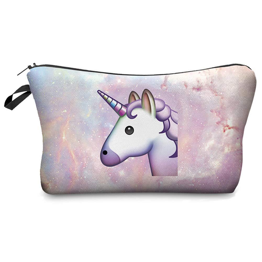 Toruiwa Beauty Case Portatile Borsa per Cosmetici Design Unicorno per Cosmetici e da Viaggio 22 * 18 * 13.5CM (Stile 1)