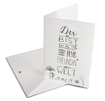 Valentinskarte Gluckwunschkarte Fur Die Beste Freundin Der Welt