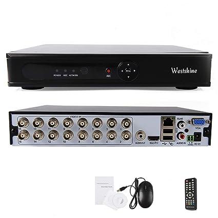 Westshine 16CH 1080N Security DVR, H 264 HD CCTV Surveillance DVR System,  Support Onvif,Motion Detection, Email Alert, Remote Access, Hybrid DVR NVR