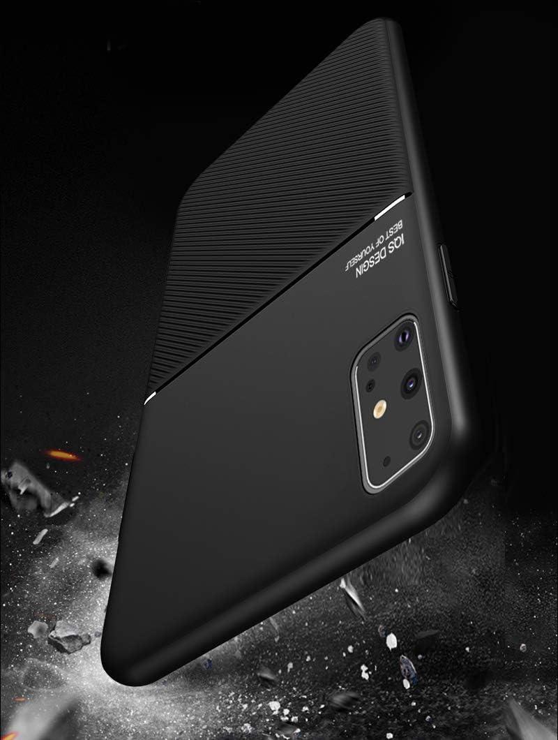 OcaseQ Coque Samsung Galaxy S20 Ultra//S20 Plus//S20 Magn/étique Mat Cuir /Étui avec Souple en TPU Anti Choc Bumper Anti Empreinte Digitale Ultra Mince Affaires Back Cover,Noir,SamsungS20 Plus