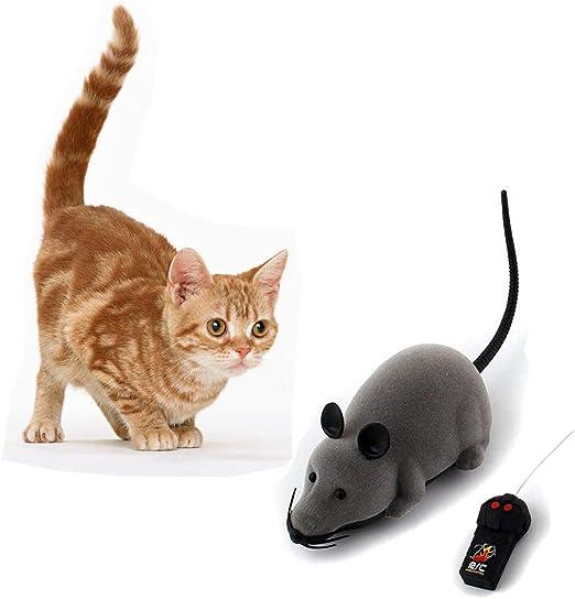 Bebester Control remoto ratón juguete, ratón electrónico inalámbrico de rata, ratón móvil para gatos perros mascotas, rat infrarrojo RC realista juguete para niños y niños divertido regalo novedad: Amazon.es: Hogar