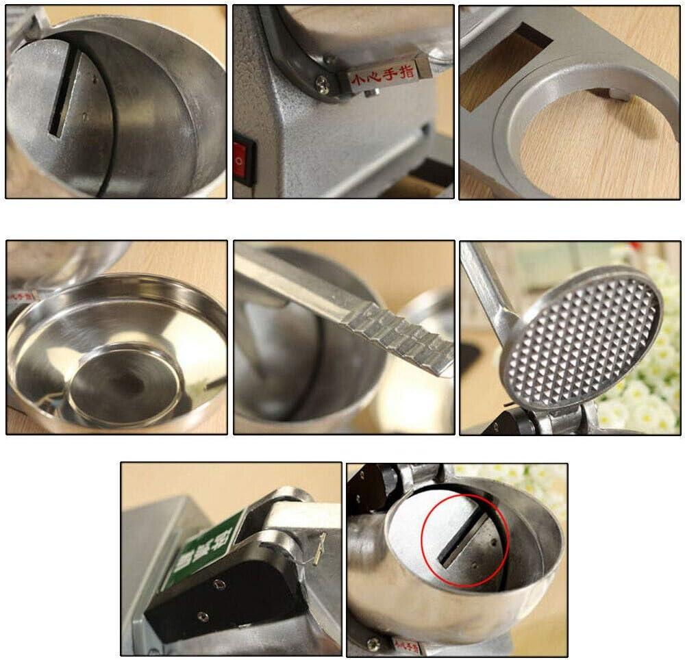 Elektrisch Eis-Crusher Ice Shaver Edelstahl Eis-Zerkleinerer Ice Crusher 65 kg//h