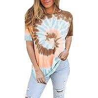 Famulily Womens Long Sleeve Shirts Paisley Tie Dye Sweatshirt Crewneck Casual Pullover S-XXL
