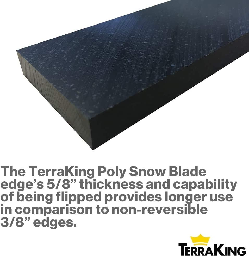 polyethylene TK4327 Six Selectable Lengths Options UHMW Nonabrasive Made from Ultra-High Molecular-Weight Kit 60 TerraKing Poly Snow Blade Edge Kit Easy Installation and Mounting |