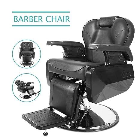 Amazon.com: Silla de peluquería hidráulica reclinable sillas ...