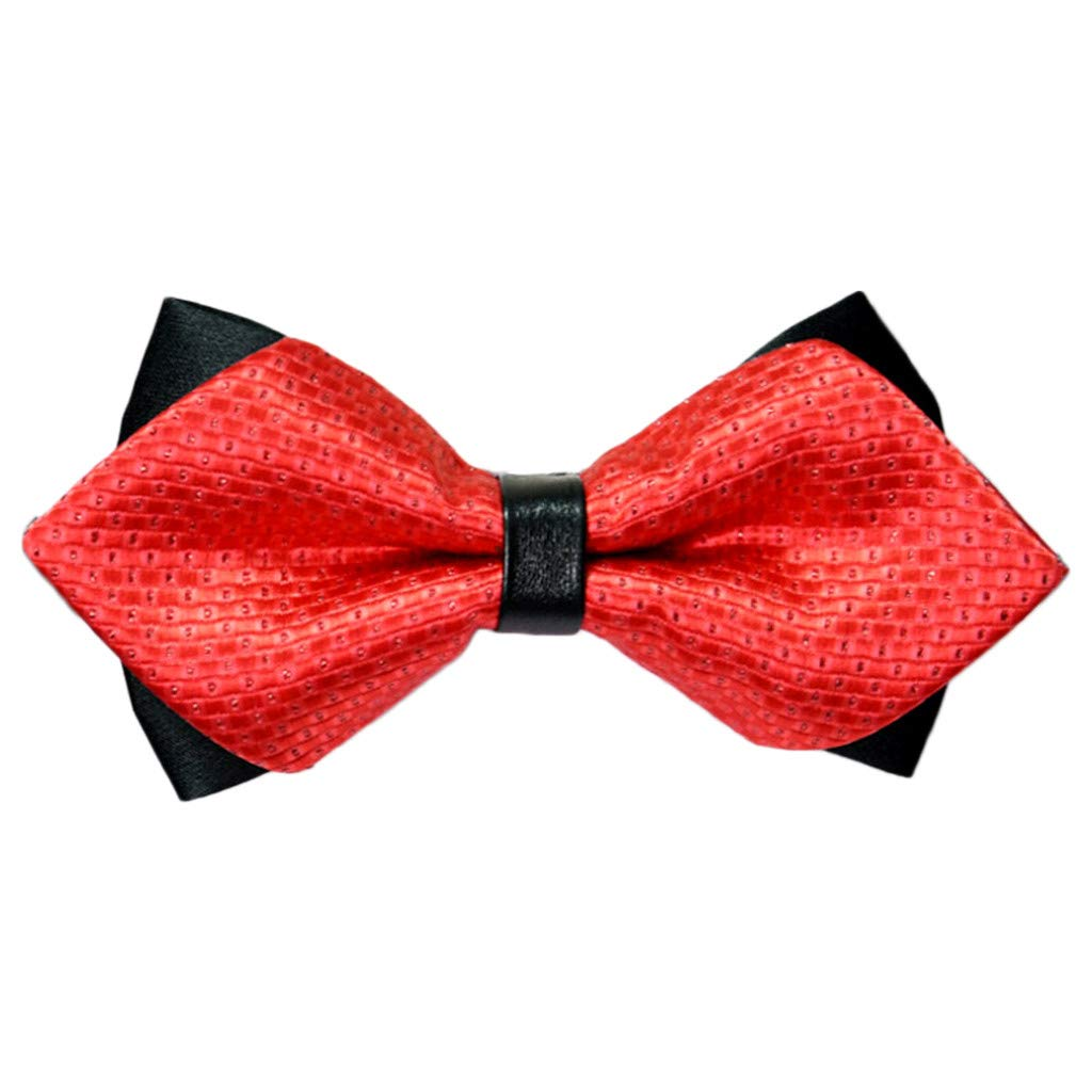 AGUIguo Mens Classic Pre-Tied Satin Formal Tuxedo Bowtie Adjustable Length Large Variety Colors Available