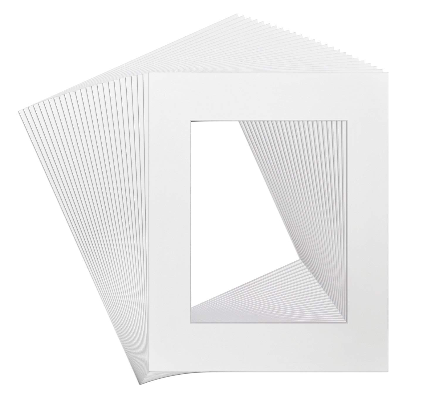 Golden State Art, Pack of 25, 16x20 White Picture Mats Mattes with White Core Bevel Cut for 11x14 Photo