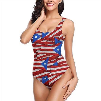 La Bandera de Cuba Traje de baño de una Pieza con bañador para Mujer: Amazon.es: Ropa y accesorios