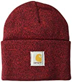 Carhartt Men's Acrylic Watch Hat A18, Red/Navy One Size