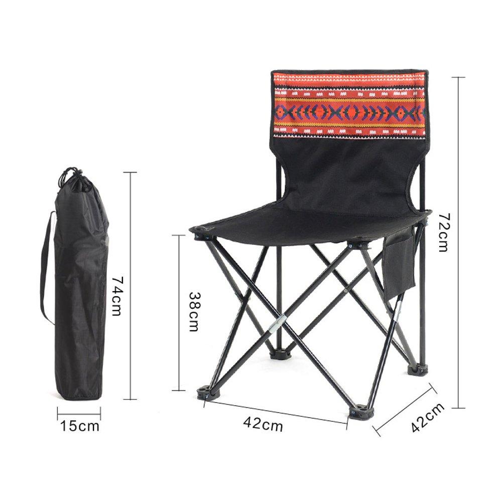 J  LDFN Chaise De Camping portable Chaises Extérieures Multifonctionnelles Chaises De Camping Chaises D'écriture Chaises en Tissu Oxford Et Fer à Dossier,H