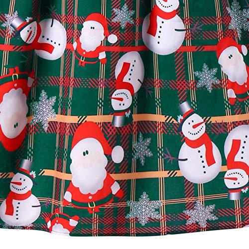 line Forti Babbo Natale Donna Vestito Di Natalizio Sera Longra Stampa Abito Da Plissettato Taglie Senza Neve A Mini Decorazioni Rosso Maniche E Pupazzo Partito Nn80Ovmw