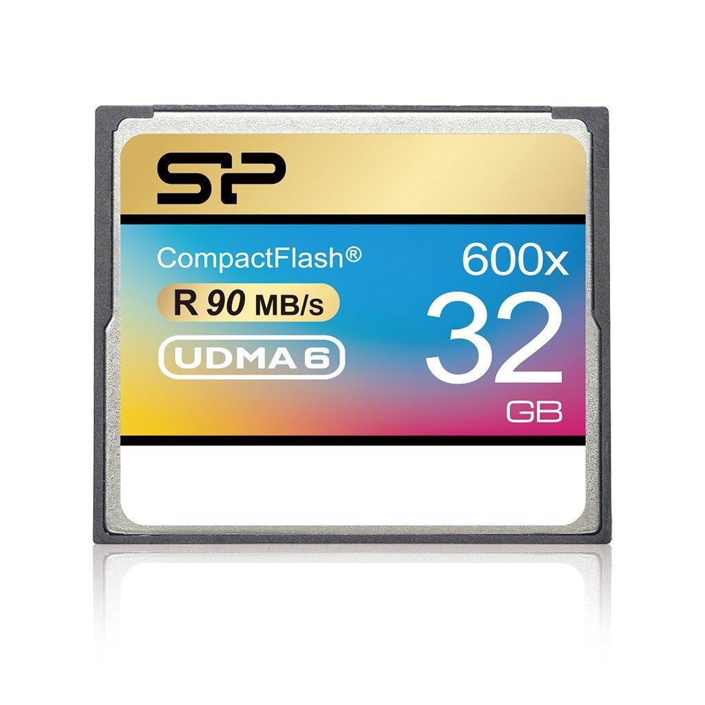 Silicon Power 32GB Hi Speed 600x Compact Flash Card (SP032GBCFC600V10)