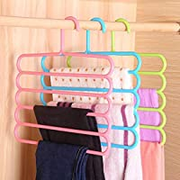 TONY STARK Closet Organizer Space Saving Plastic Multi-Functional Storage Wardrobe Clothes Organizer Hanger for Shirts, Pants, Skirts-32L x 1B x 33H cm