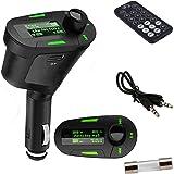 New! Green LED Screen Car MP3 Player FM Transmitter Car Kit FM Modulator Listen to Streaming Music Player with USB SD MMC