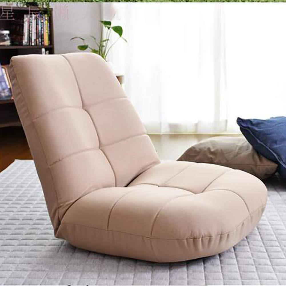 HU 折りたたみ式パッド入りフロアチェア 日本スタイル コットン 折りたたみ式 ソファチェア 畳 ビデオゲーム 瞑想用椅子 65x67cm(26x26inch) ベージュ HU 65x67cm(26x26inch) ベージュ B07G9KQTY4