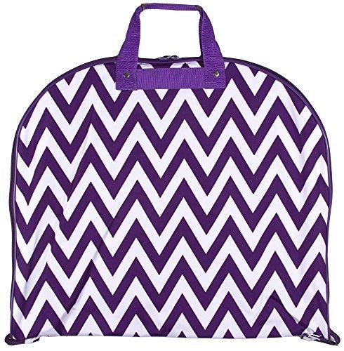 [Ever Moda Hanging Garment Bag, Purple White Chevron (40-inch)] (Theatre Costume Closet)